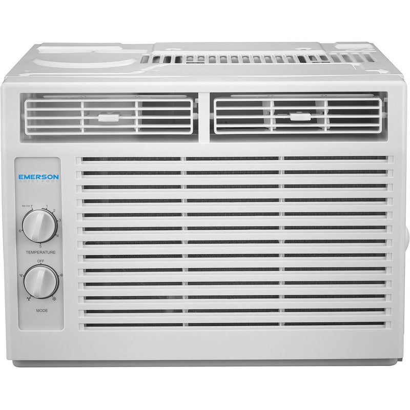 Emerson Quiet Kool 5,000 BTU 115V Window Air Conditioner with Mechanical Rotary Controls, EARC5MD1, White