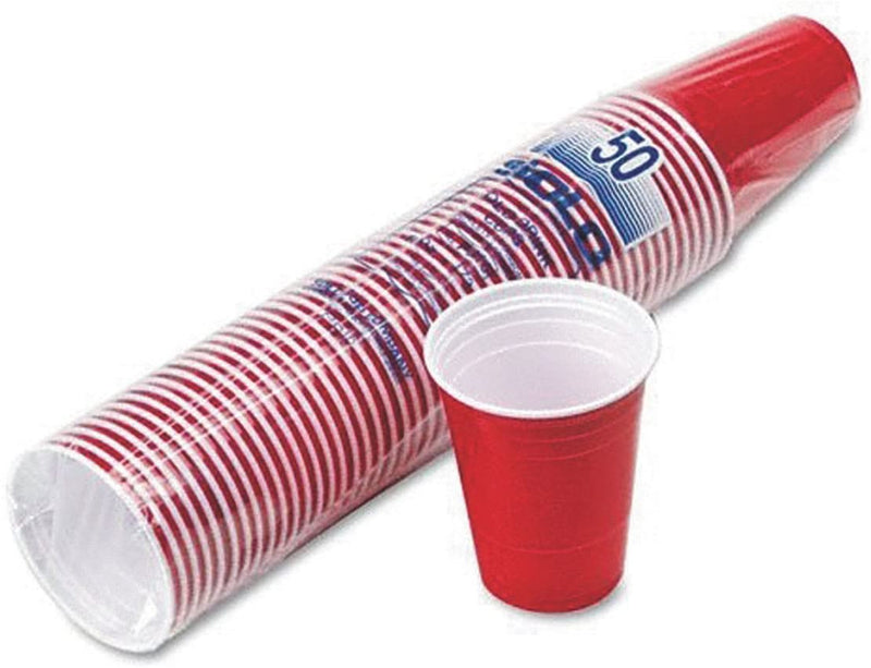 DISPOSEIT PLASTIC CUP 50 COUNT 16 OZ RED