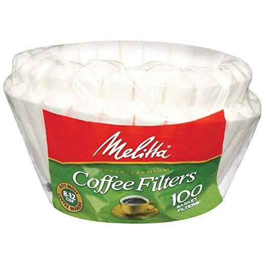 Melitta 629552 100 Ct White Basket Filter.