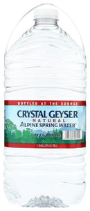 Crystal Geyser Natural Alpine Spring Water, 1 Gallon Bottle
