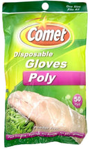 Comet Disposable Gloves, Poly, One Size Fits All 50 ea