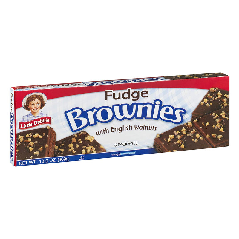 Little Debbie Fudge Brownies with English Walnuts (6 count) 13 oz