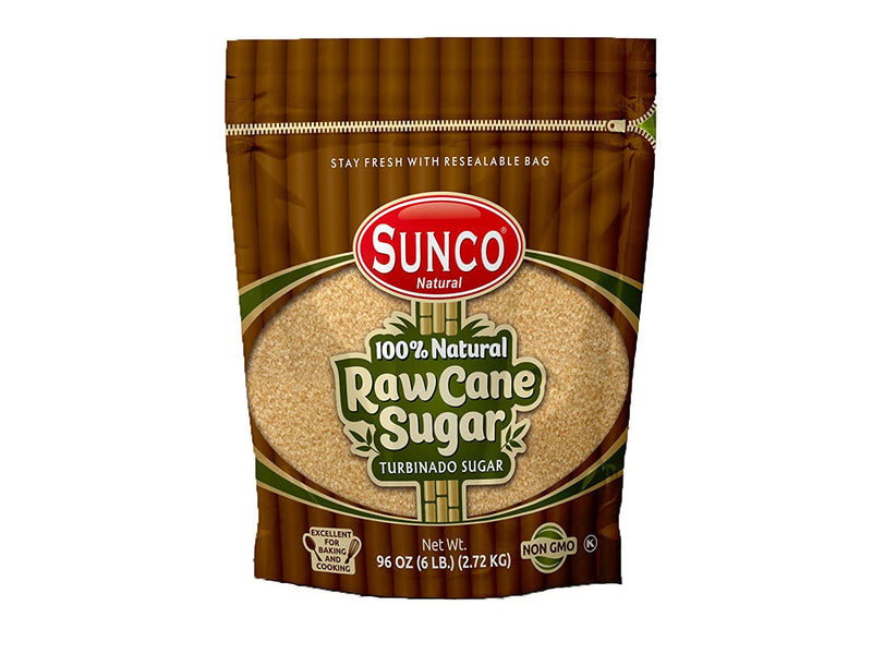 Sunco Natural Raw Sugar, Natural Raw Cane Sugar, Turbinado Sugar, Demerara Sugar Bulk, Pack of 1