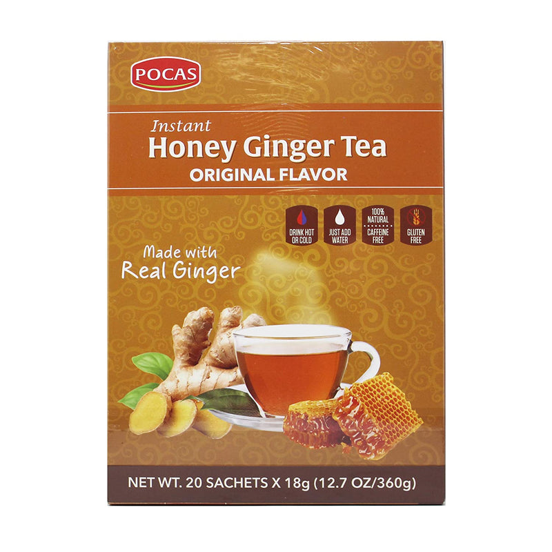 Pocas Honey Ginger Tea, Original, 12.7 Ounce, 20 Bags
