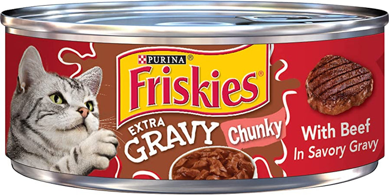 Friskies Savory Shreds With Beef In Gravy Canned Cat Food - 5.5oz Cans