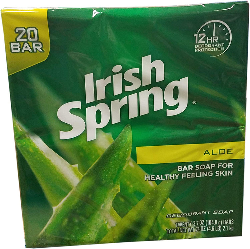 Irish Spring Aloe bar Soap (20/3.75 Oz Net Wt 74 Oz)