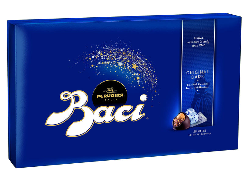 Perugina Baci Classic Dark Chocolate Hazelnut 28-pc Box 14.11oz, 28 Count