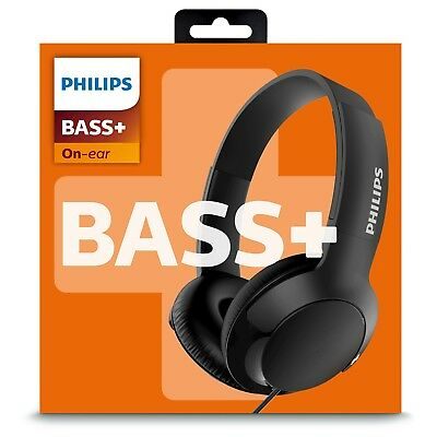 Philips SHL3070BK/27 Bass+ On Ear Headphones, Black