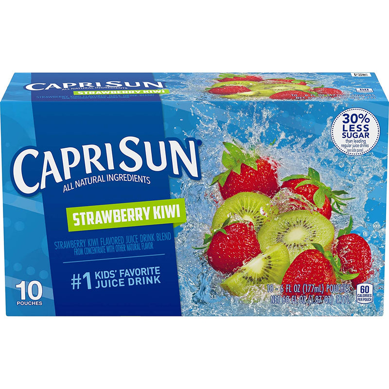 Capri Sun Strawberry Kiwi Flavored Juice Drink Blend, 10 ct - Pouches, 60.0 fl oz Box