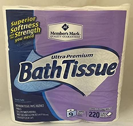 Member's Mark 2-Layer Bath Fabric (9 Rolls)