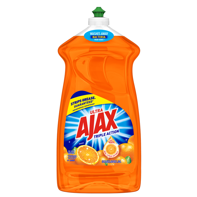 Ajax Ultra Triple Action Liquid Dish Soap, Orange - 52 fluid ounce