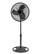 Hyperwind Black 16 inch Oscillating Stand Fan