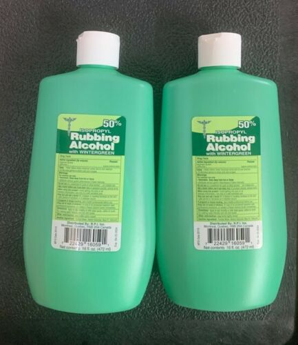 2 x 16 Oz Sealed Unit , 50% Isopropyl Rubbing Alcohol With Wintergreen