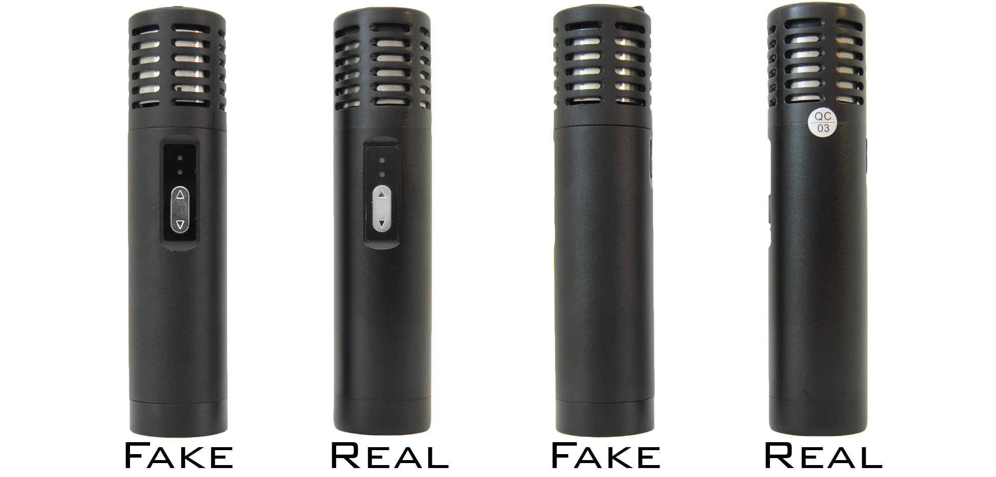 fake arizer air vaporizer vs real side by side