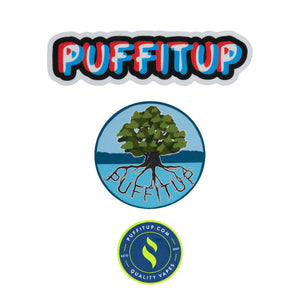 PuffItUp Stickers Everything Else PUFFITUP Drunk Text, Tree, Full Logo