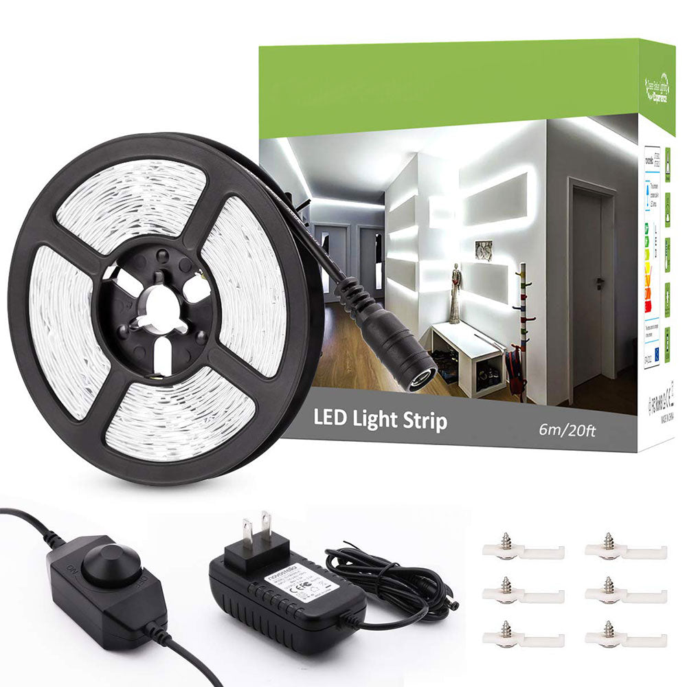 20ft/6m Daylight White LED Strip Lights