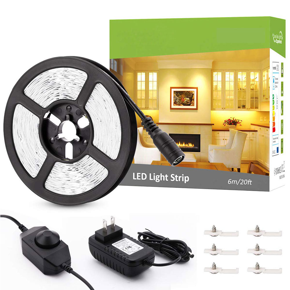 20ft/6m Warm White LED Strip Lights