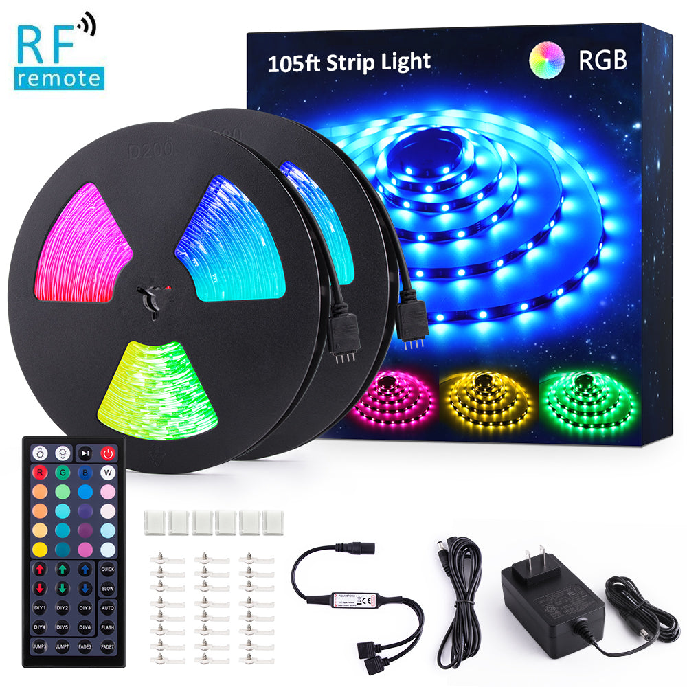 105ft/32m RGB LED Strip Lights