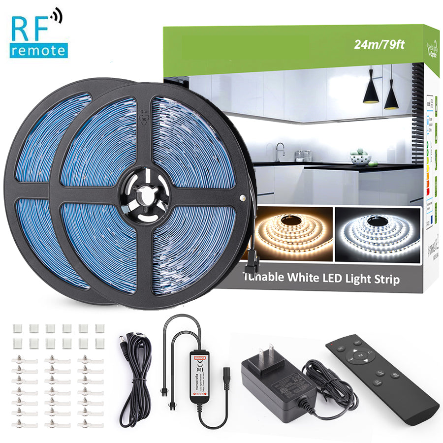 79ft/24m Tunable White LED Strip Lights