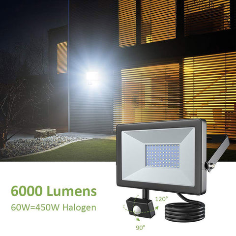 60W Motion Sensor LED Flood Light