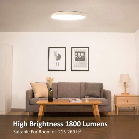 Ultra Thin Round Shape Ceiling Light 3000K Warm White
