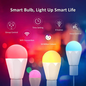 3 Pack 13W RGBCW Smart LED Bulbs