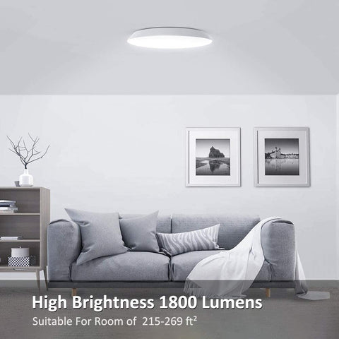 18W Round Shape Ceiling Light 6000K Cool White