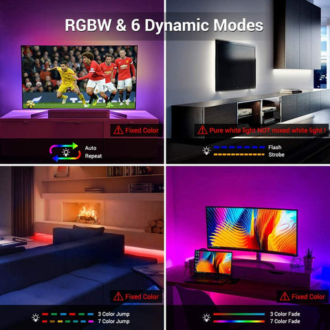 5M RGBW TV Back Lights with USB Port