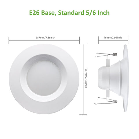 1 Pack Smart Retrofit Led Recessed Down Light