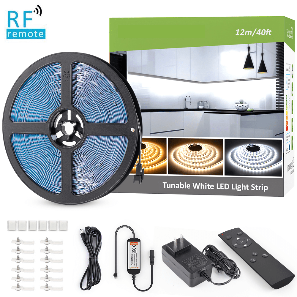 40ft/12m Tunable White LED Strip Lights