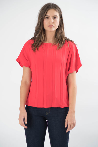 Jillian Pleated Top