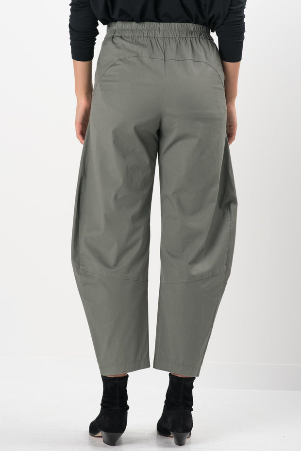 Cinder Cotton Twill Quartz Wide Leg Pants