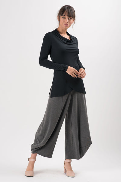 Charcoal Light Ponti Skylar Wide Leg Pants