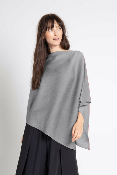 Silver Noelle Pleated Shawl