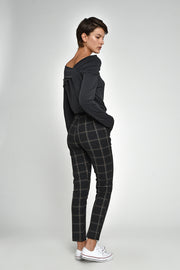 Plaid Isolde Straight Leg Pants