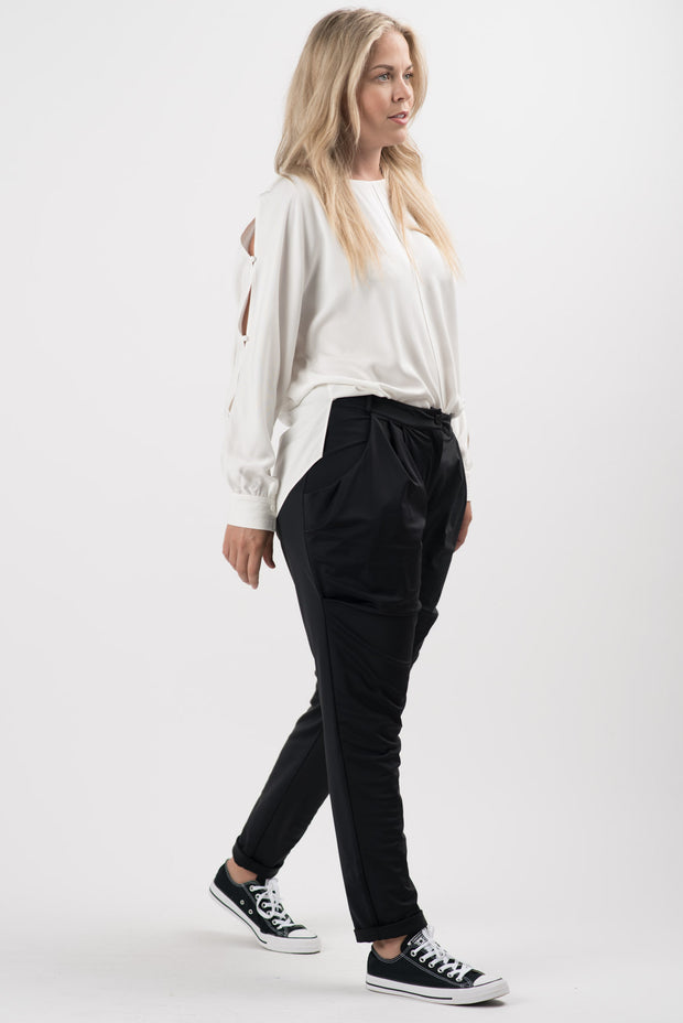 White Diva Long Sleeve Blouse | RUTI