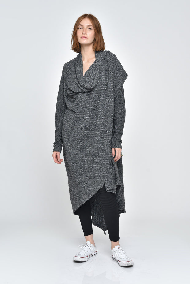 Atarah Ribbed Long Cardigan