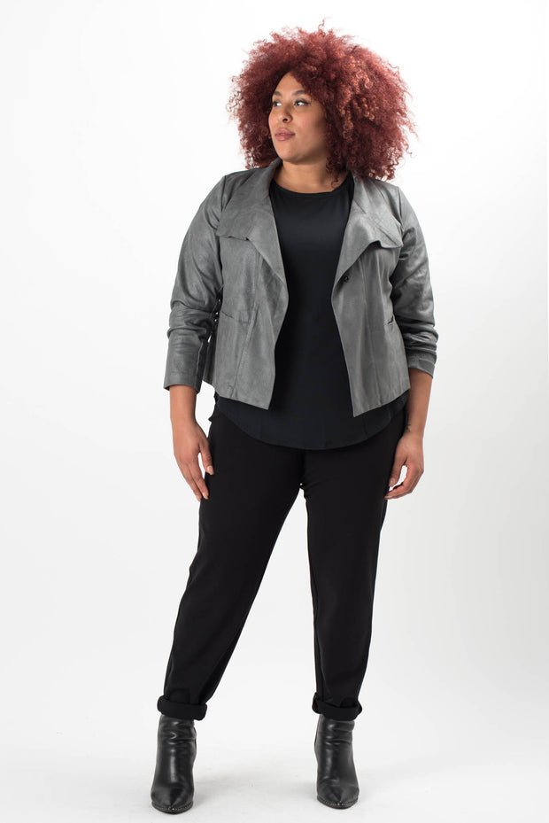 Paula Faux Leather Jacket