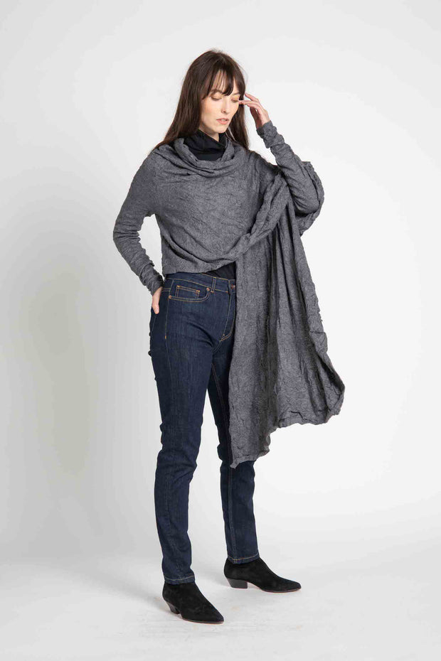 Grey Clayton Wrap Cardigan