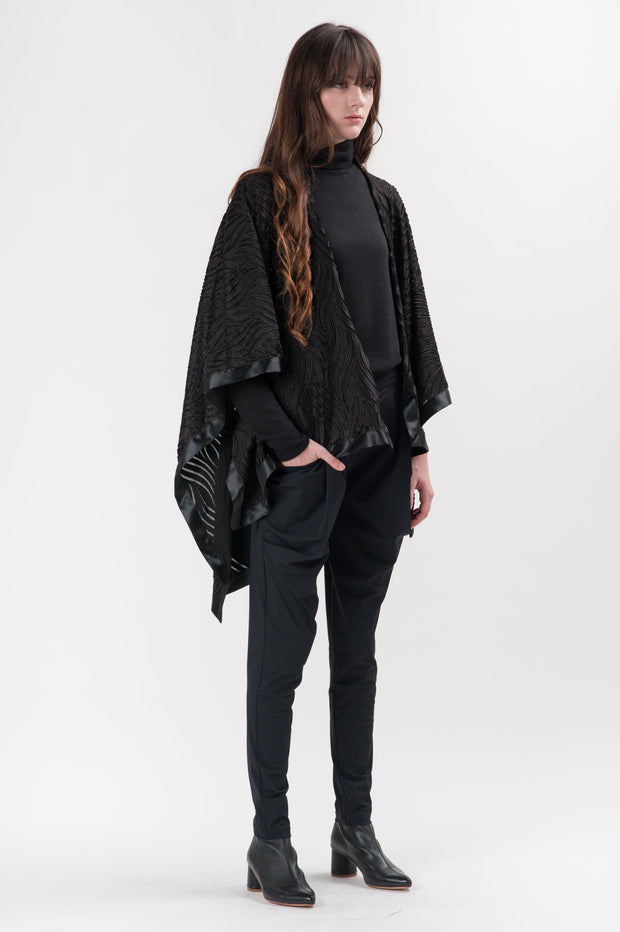Black Velvet Alonzo Shawl