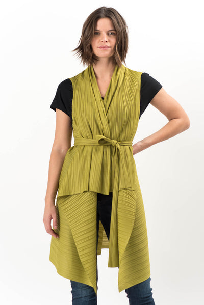 Crawford Pleated Drape Vest