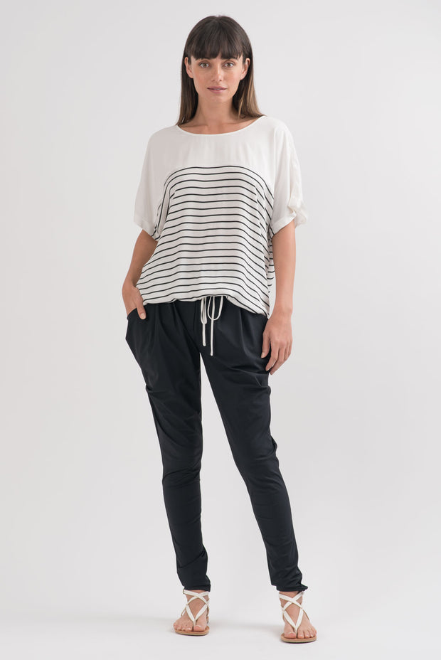 Black and White Striped Harvey Blouse