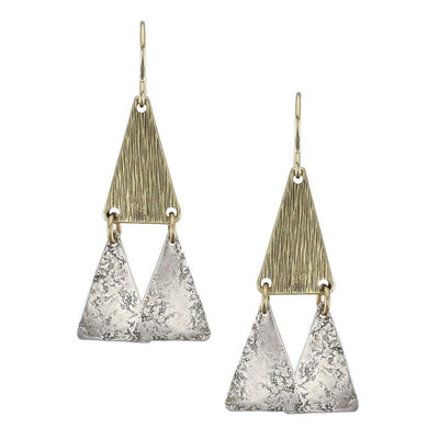 Textured Triangle Plate Earring