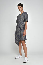 Snake Brett Wrap Dress