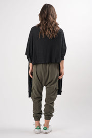 Olive Teddy Drop Crotch Pants | Ruti