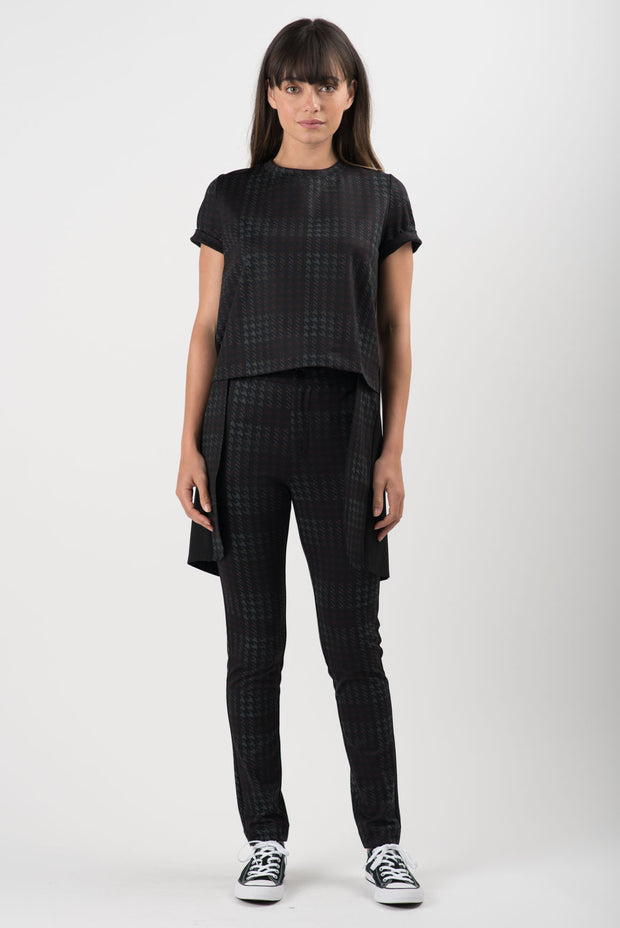 Houndstooth Ponti Nova High Low Tunic