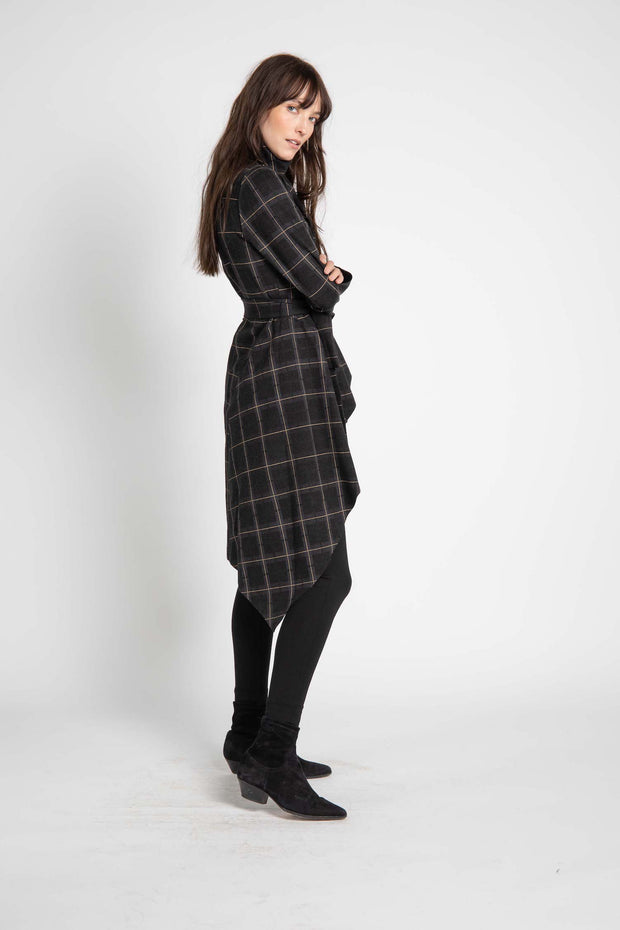 Plaid Walker Wrap Jacket