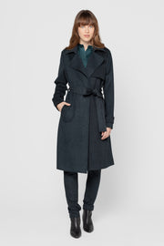 Forest Green Twiggy Long Coat