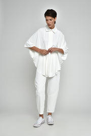 White Quartz Wide Leg Pants