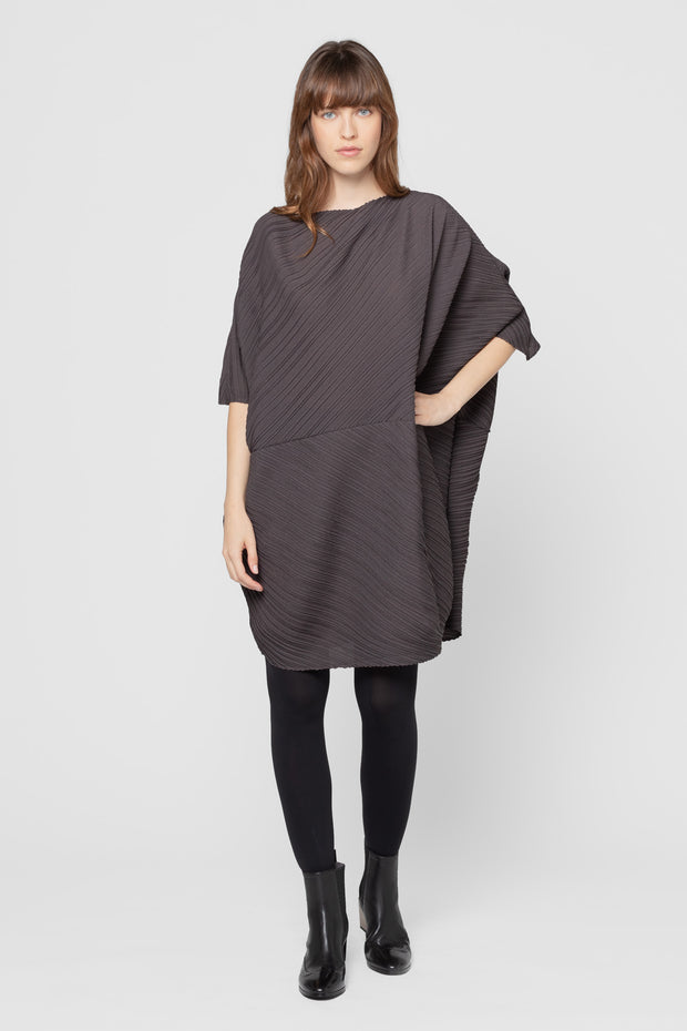 Graphite Cindy Pleated Tunic